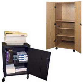 Enclosed Mobile Audio Video Cabinets