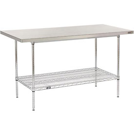 "60"" W x 30"" D Stainless Steel Top Wire Work Table"
