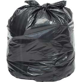 Global Industrial™ Heavy Duty Black Trash Bags - 40 to 45 Gallon, 1.4 Mil, 100/Case