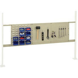 "Mounting Kit with 18""W Louver and 36""W Pegboard for 72""W Workbench - Tan"