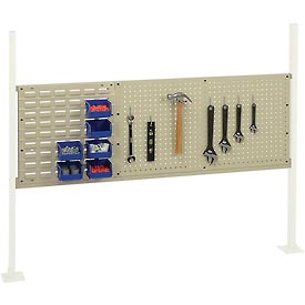 """Mounting Kit with 18""""W Louver and 36""""W Pegboard for 60""""W Workbench -Tan"""