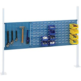 """Mounting Kit with 18""""W Pegboard and 36""""W Louver for 60""""W Workbench - Blue"""