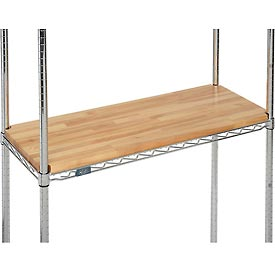 "Hardwood Deck Overlay for Wire Shelving 48""W x 24""D x 1""Thick"