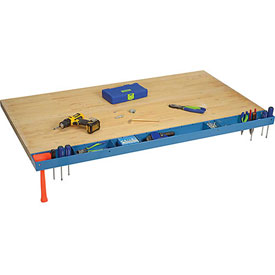 "60""W Workbench Tool Organizer and Sorting Tray - Blue"