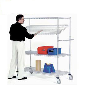 Nexel® E-Z Adjust Chrome Wire Shelf Trucks