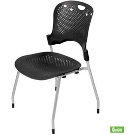 Circulation Stacking Chair - Black (Priced 4 per Carton)