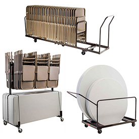 Folding Chair & Table Carts