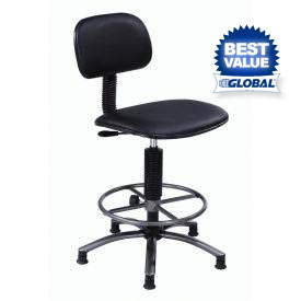 Interion® Vinyl Production Stool With Footring