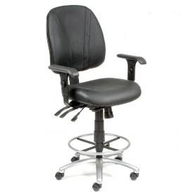 Interion® Leather Stools - Manager Synchro Mechanism