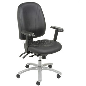 Interion® 8-Way Adjustable Leather Ergonomic Chair