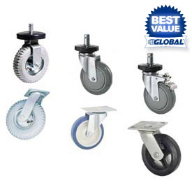 Nexel® Stem Casters, Plate Casters & Dolly Bases