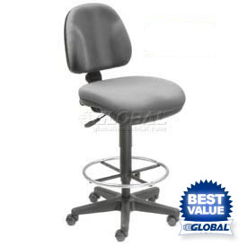 Interion® Fabric Drafting Stools