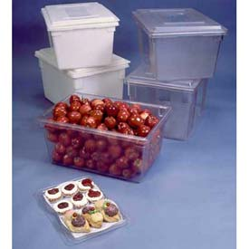 Rubbermaid 3506-00 White Plastic Box 5 Gallon 18 x 26 x 3-1/2 - Pkg Qty 6