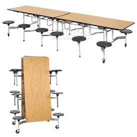 Virco® - Folding Mobile Stool Portable Cafeteria Table
