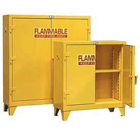 Strong Hold® Heavy Duty Flammable Cabinet 60.5PSC - With Manual-Close Doors 60 Gallon