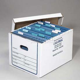 Corrugated Transfer File Record Storage Box With Lid - Letter or Legal