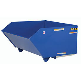 Low-Profile Self-Dumping Steel Forklift Hoppers