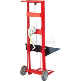 Wesco® Winch Operated Platform Lift Truck 260017 2 Wheel Style 750 Lb. Cap.