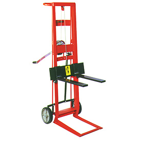 Wesco® Winch Operated Adjustable Forks Lift Truck 260019 2 Wheel 750 Lb.