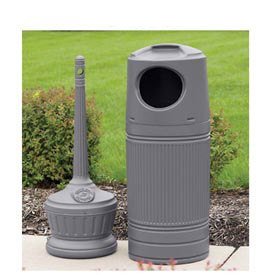 Smokers' Outpost® Outdoor Ashtray & Littermate Waste Receptacle