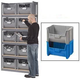 Boltless Steel Shelving With Hopper Bins