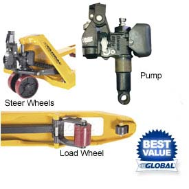 Replacement Parts for Global Best Value Pallet Jack Trucks