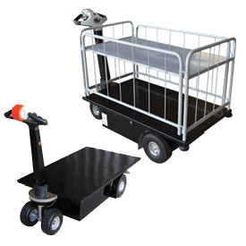 Vestil Self-Propelled Battery Powered Platform Trucks