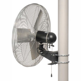 TPI 24 Pole Mount Fan Oscillating 1/4 HP 6800 CFM 1 PH Totally Enclosed Motor