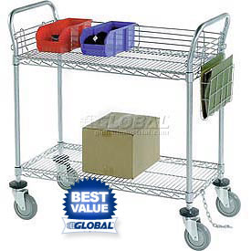 Nexel® Chrome Wire Service & Utility Carts
