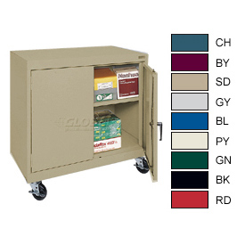 All-Welded Mobile Counter Height Cabinets