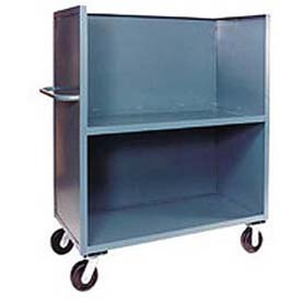 Three-Sided Steel Shelf Trucks with Solid Panels