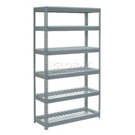 7' High Boltless Steel Shelving With Wire Deck