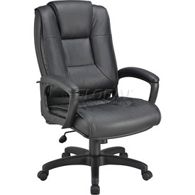 Interion® Premium Ultra Cushioned Leather Office Chair