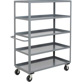 Jamco Heavy Duty Shelf Truck CE236 5 Shelves 36x24 3000 Lb. Capacity