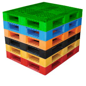 Stackable Plastic Pallets Static Capacity 6600 Lbs.
