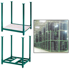 Steel King - Portable Stack Racks With Deck