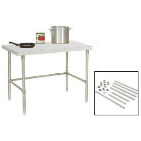 Plastic Top Workbenches - Stainless Steel Legs
