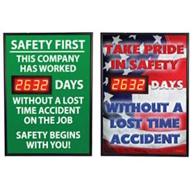 Digital Safety Scoreboard Signs