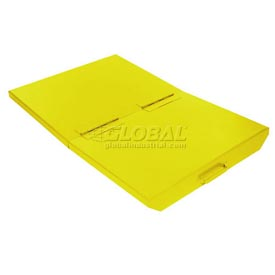 Lid for 1/4 Cu Yd Wright Yellow Self-Dumping Hopper