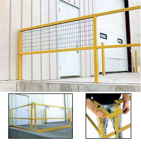 Modular Square Steel Guard Rails