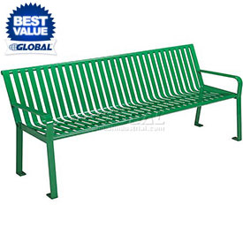 Steel Benches with Back & Arms