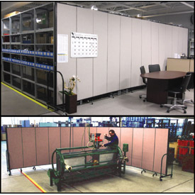 Screenflex® - Vinyl Upholstered Mobile Room Dividers