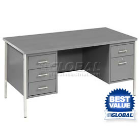 MBI - Double Pedestal Steel Desks