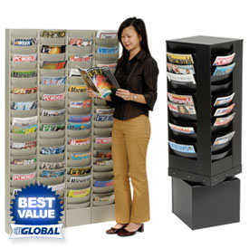 Literature Rack - Wall, Free Standing & Rotating Styles