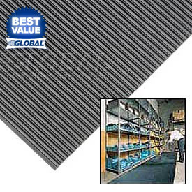 "1/8"" Thick Corrugated Rubber Runner Mats"