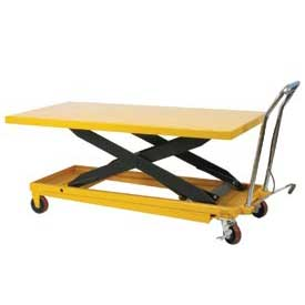 Wesco® Oversized Deck Mobile Scissor Lift Tables