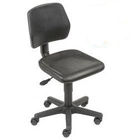 Interion® Industrial Polyurethane Pneumatic Height Adjustable Chair