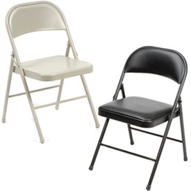 Premium Quality Steel Folding Chairs -- Choice Of All Steel Or Padded Seat & Back