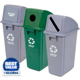 Global™ Plastic Waste & Recycling Containers