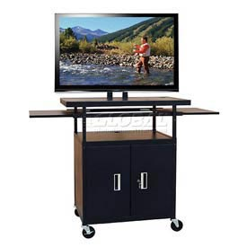 Flat Panel Carts With Side Shelves